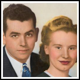 Mom and Dad - wedding photo
