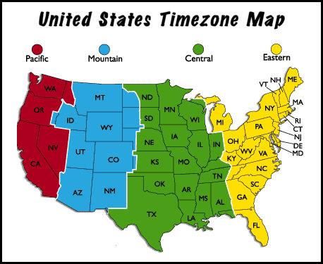 timezone map    u.s.a. charlie's strange and happy world