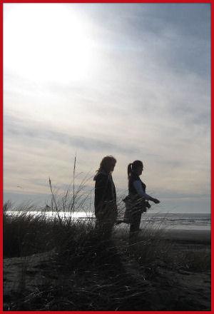 Long Beach, Washington - Marilyn and Jessica
