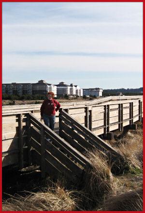 Long Beach, Washington - Sue on the Boardwalk
