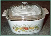 'Spice of Life' CorningWare casserole with lid
