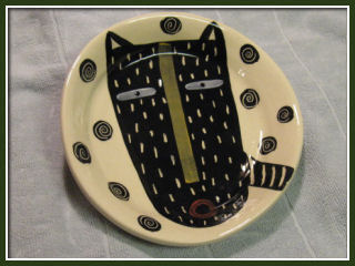 Tribal Cat bowls