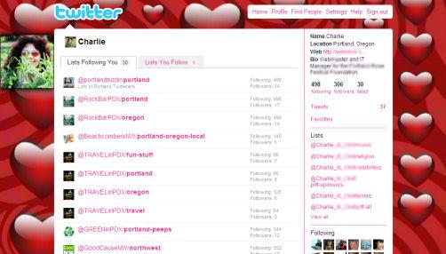 twitter background displayed