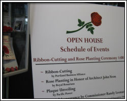 Open House - schedule