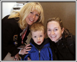 Open House - Marilyn with Patti and son