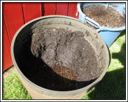 drying out soil