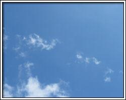 Blue sky earlier today