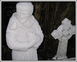 St. Francis statue in back yard
