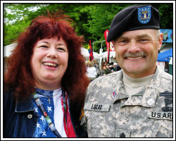 2011 Memorial Day - Charlie and Sgt. Major Lucas
