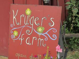 Kruger's Farm - 1 - sign