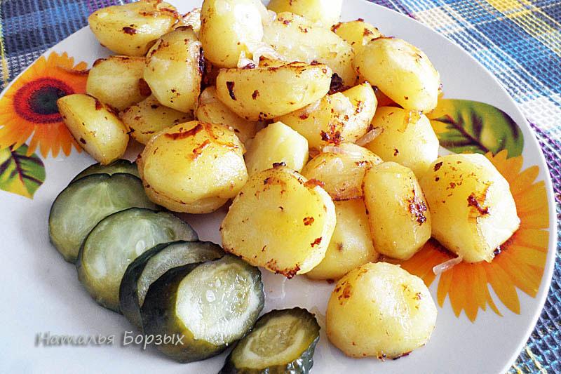 жареная картошка на ужин