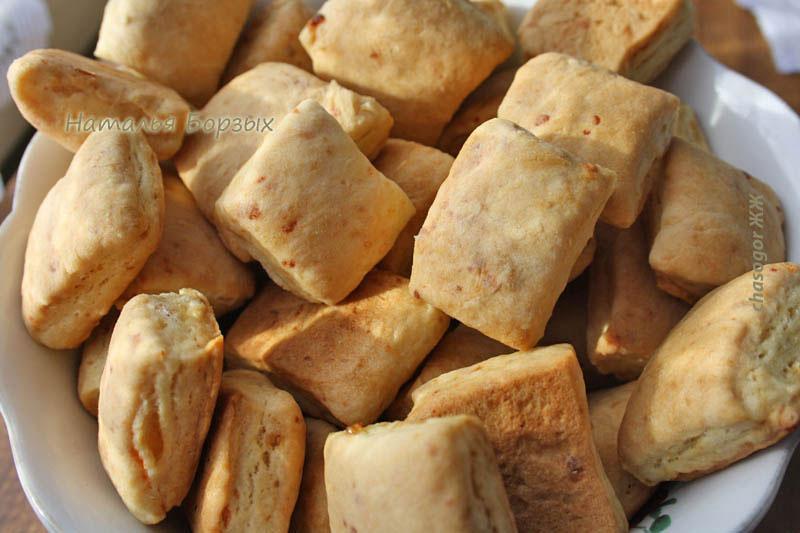 печенье с солёным творогом