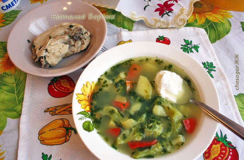 отварной кролик и суп овощной