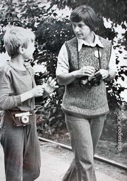 мой ученик Андрей Решетин и я, руководитель фотокружка, 1980 год