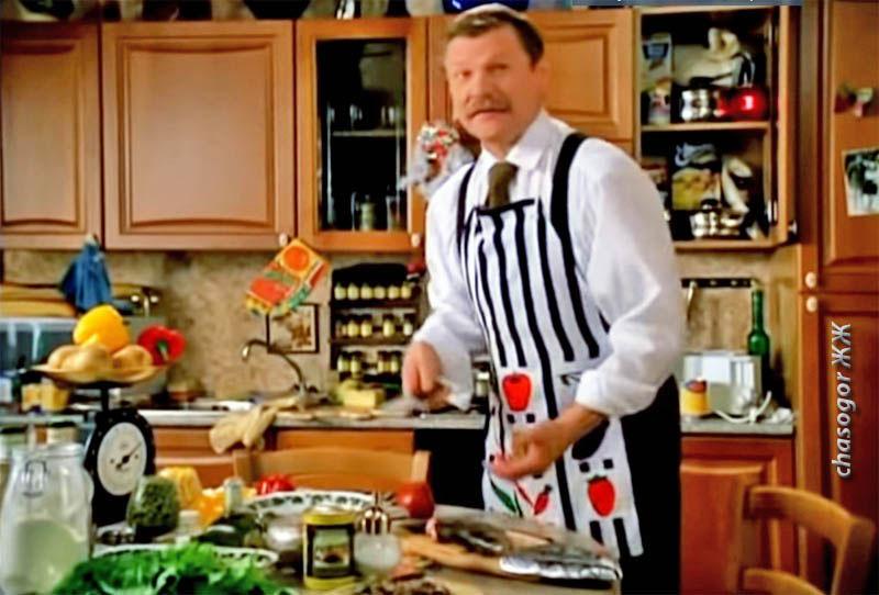 кулинарный эпизод с Виталием Соломиным