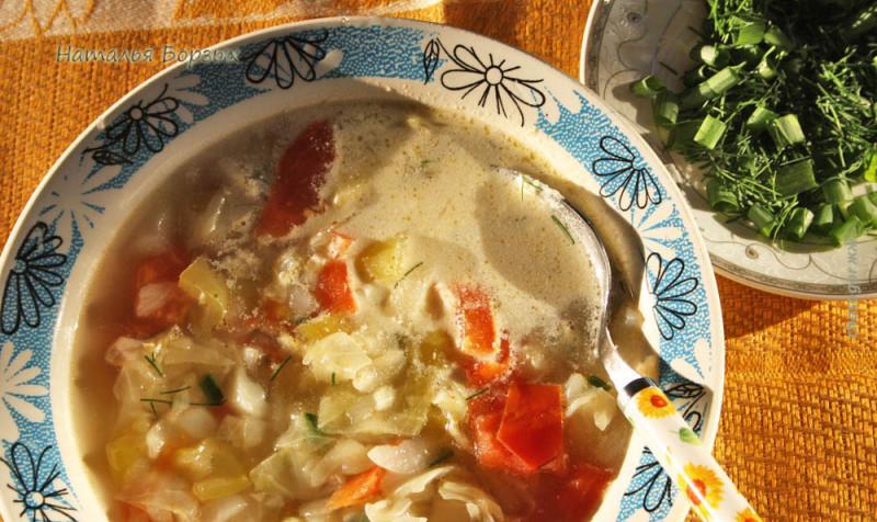 суп из косточек с овощами