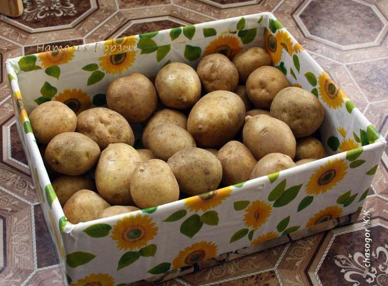 мытая рыночная картошка