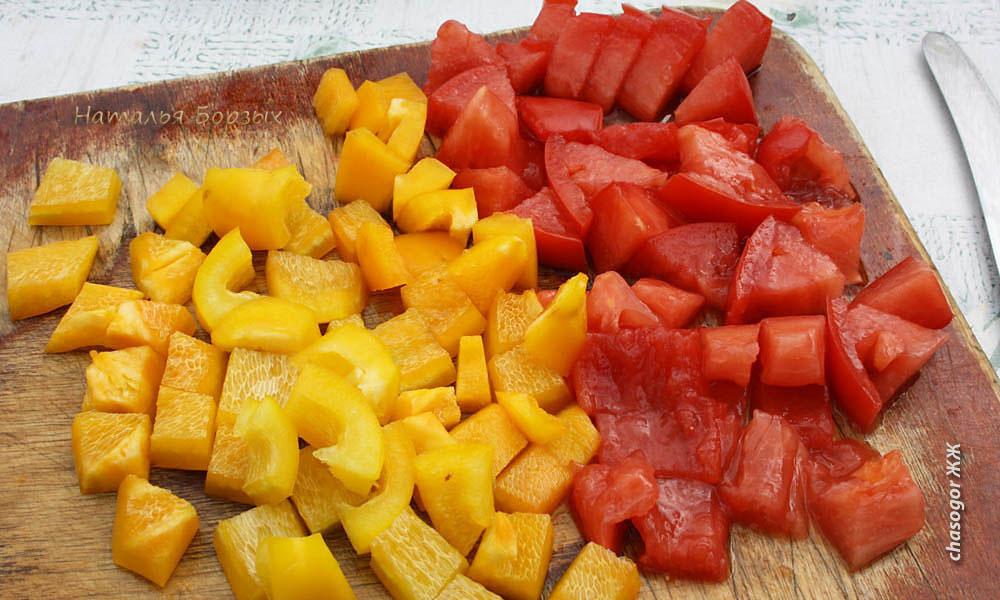сладкий перец и помидор