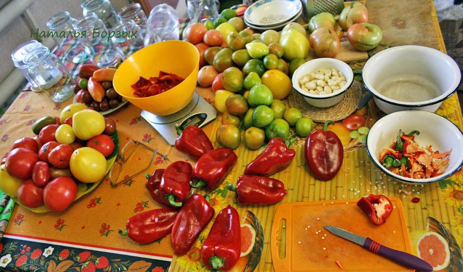 перцы и помидоры