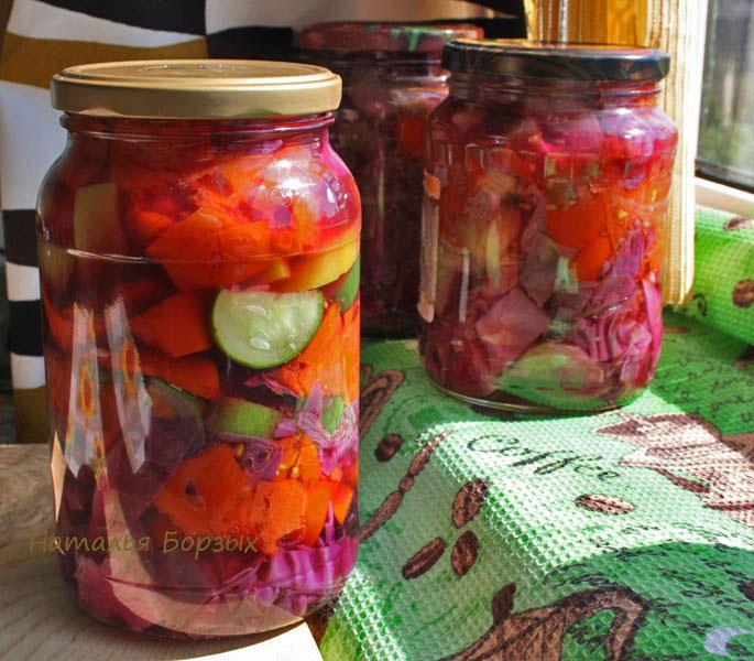 красная капуста с овощами