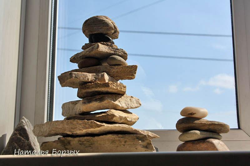 обо, пирамидки из камней