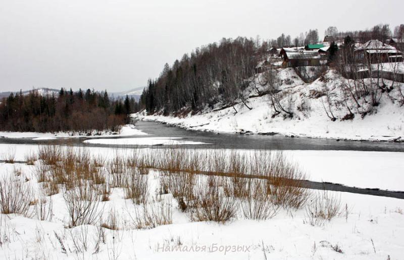 река Мана не замерзает