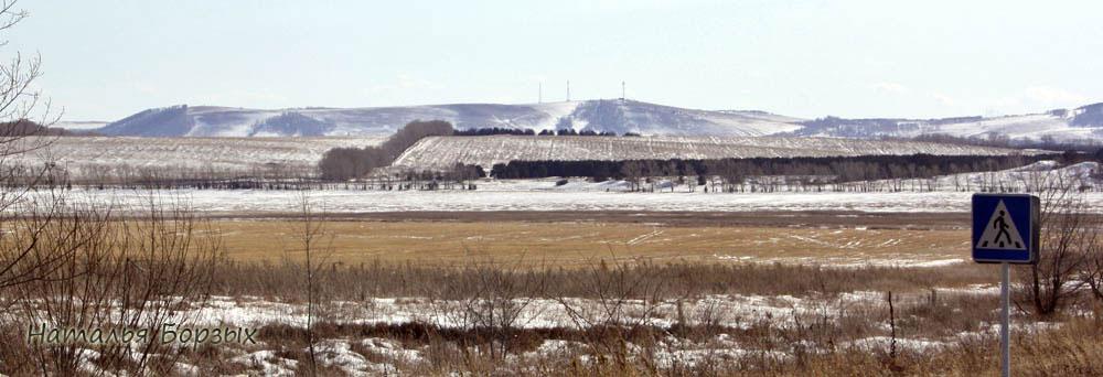 сельский пейзаж Минусинской котловины
