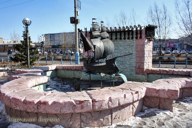 фонтан на Абаканской улице