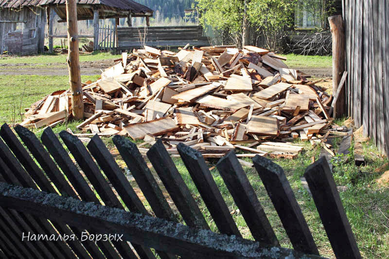 привезли дрова
