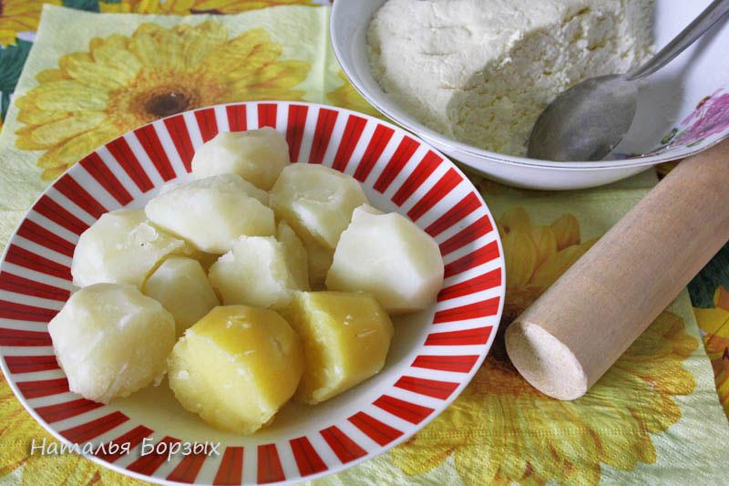 картошка и солёный творог