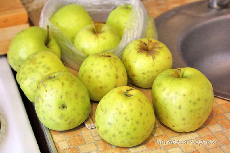 слегка порченые яблоки