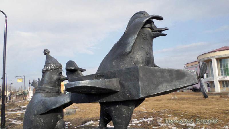 """пингвины учатся летать, """"Крутое пике"""""""