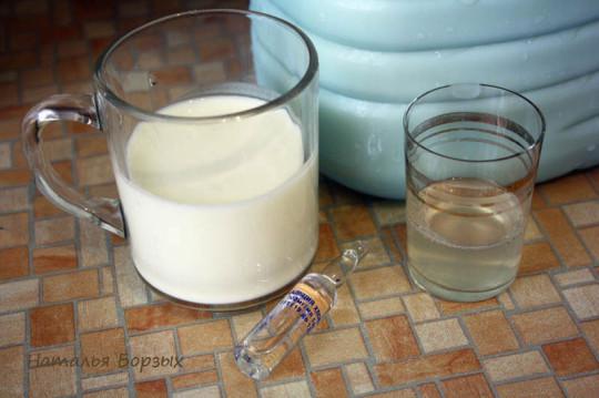 йогурт, хлористый кальций и сычужная закваска