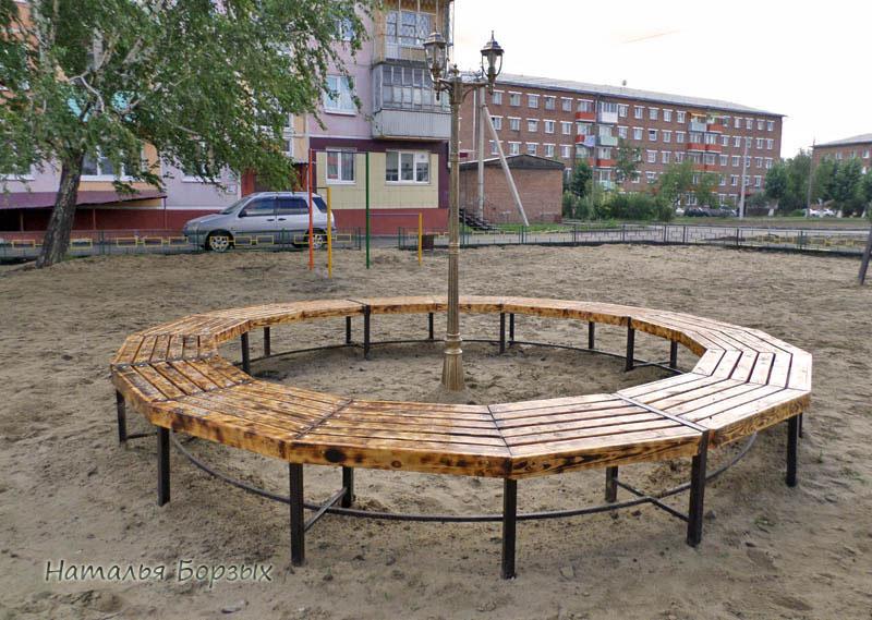 кольцевая скамейка
