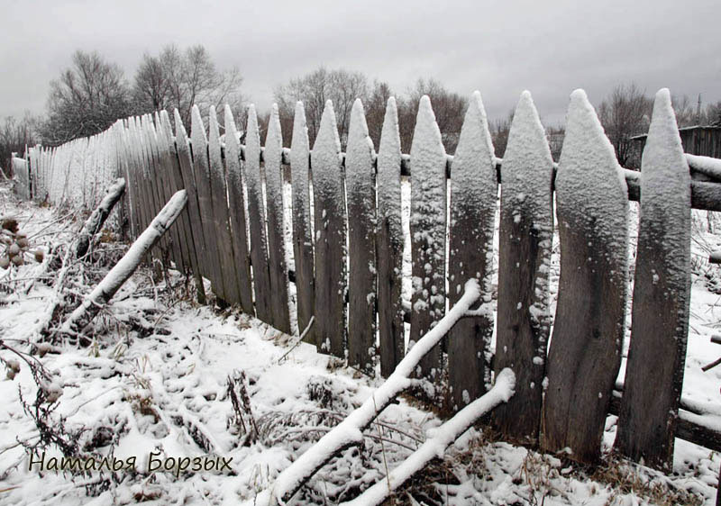 мой красивый забор