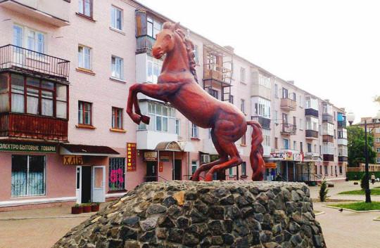 символ Конотопа - вздыбленный конь