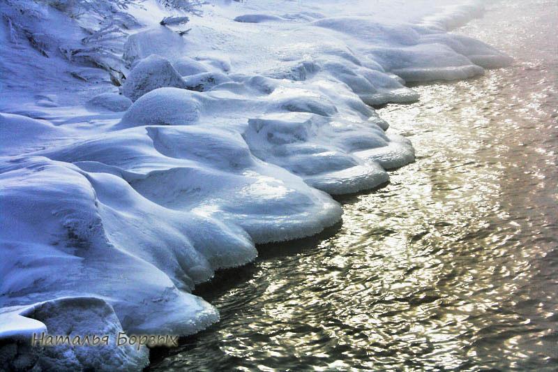 холодный снег и тёплая вода