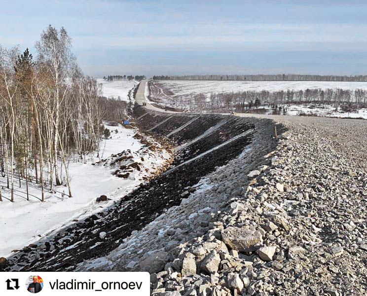 строительство дороги в Свирск