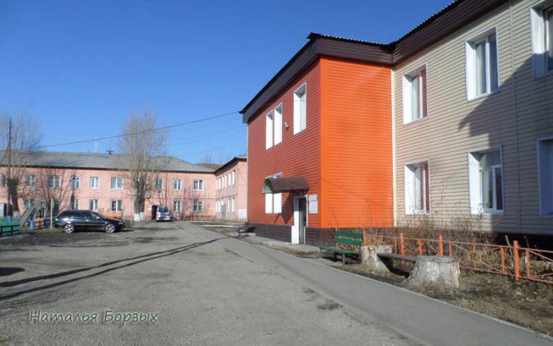 двор с малоэтажными домами 60-го года постройки