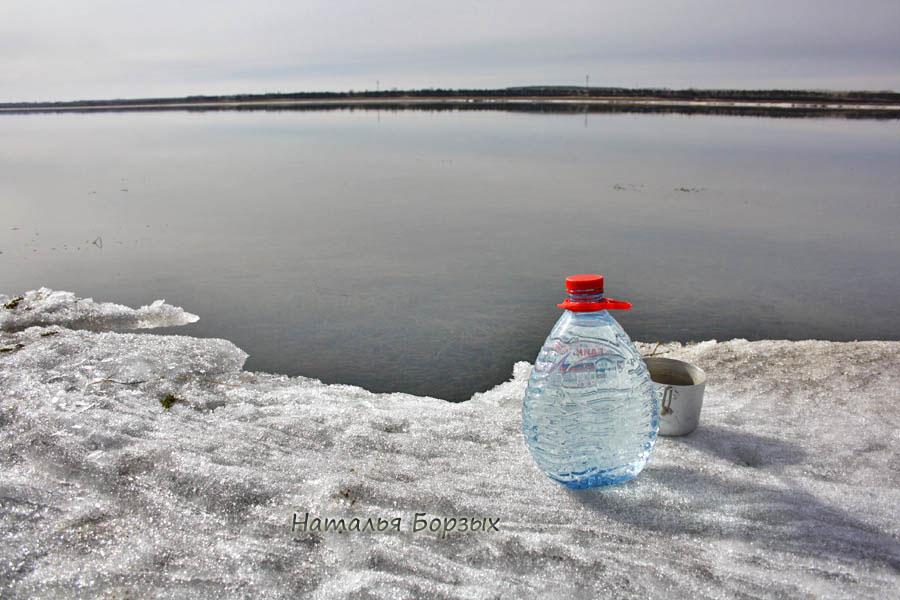 лёд в основном прошёл ночью 13 апреля, я его не застала