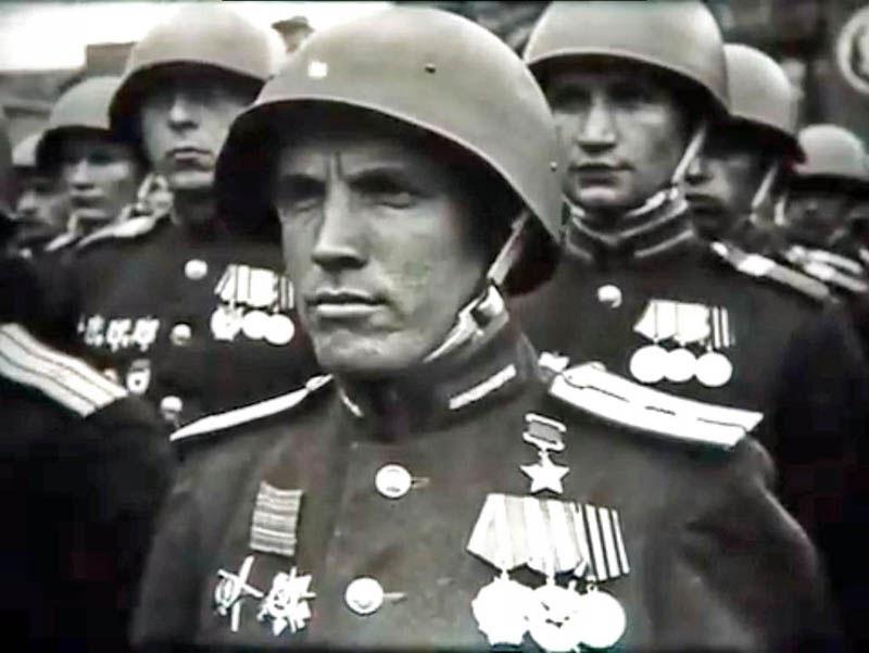фронтовики с парада Победы