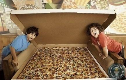 гигантские пиццы