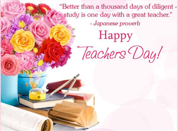 happy teachers day beautiful flower
