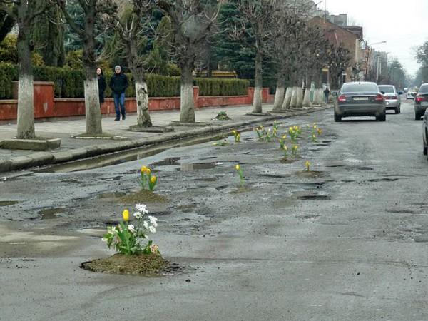 В-Коломые-и-Тернополе-ямы-на-дорогах-засаживают-цветами-песочница-642515