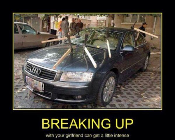 car-humor-funny-joke-road-street-drive-driver-breaking-up-girlfriend-pickaxe-revenge-audi