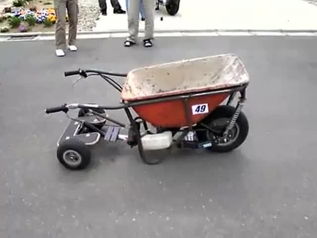 Садовая тележка с мотором