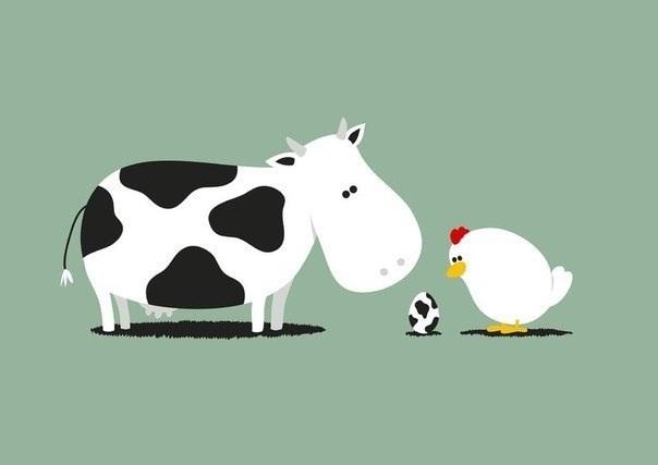 art-корова-курица-168895