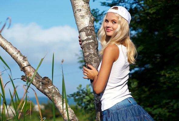 фото девушек блондинок простые фото