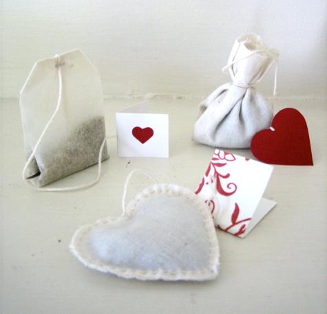 Чайный пакетик в виде сердца