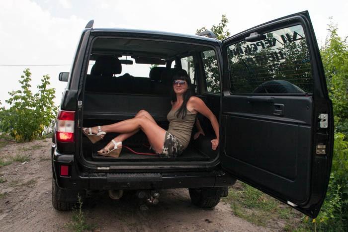 Уаз хантер секс в машине